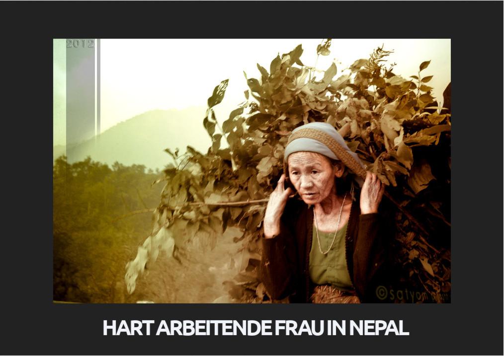 hart arbeitende Frau in Nepal